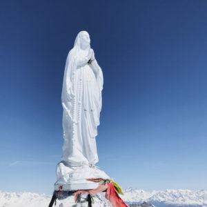 Die Madonna am Gipfel des Gran Paradiso