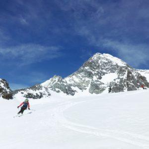 Skiabfahrt vom Großglockner mit Bergführer traumhafte Abfahrt über das Ködnitzkees