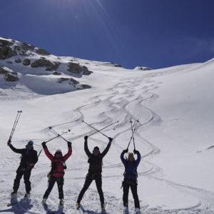 Happy people während der Gran Paradiso Durchquerung