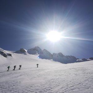 Skitouren mit Bergführer auf der Jamtalhütte