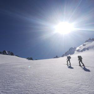 Skihochtouren mit Bergführer im Jamtal.