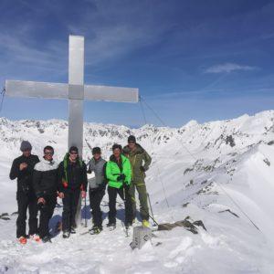 Gipfelfoto in der Silvretta.