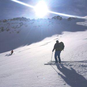 Skiouren in der sesvennagruppe mit Bergführer