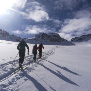 Skitour Piz Sesvenna mit Bergführer.