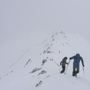 Rasassspitze mit Bergführer