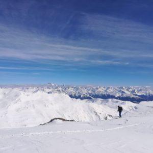 Skitouren auf der Sesvennahütte.