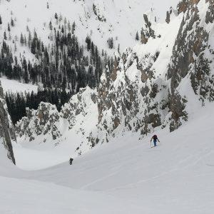Anstrengende Skitour im wilden Karwendel.