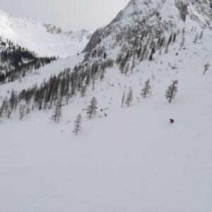 freier Skihang im Karwendel