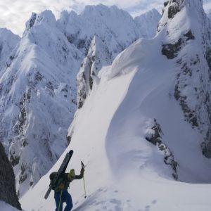 Mit Bergführer Skitourengehen im im Karwendel