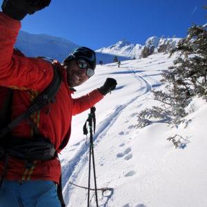 Bergführer auf skitour in Obernberg