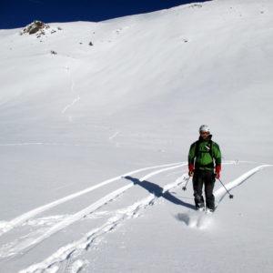 Skifahrer im Obernbergtal
