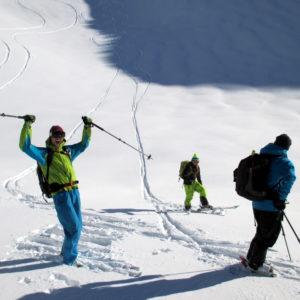 Skitourengeher in den Brennerbergen