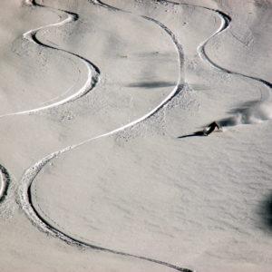 Bergführer beim Skifahren