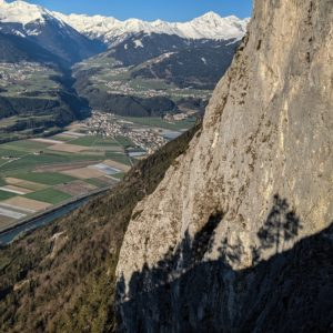 hechenberg südwand und das inntal