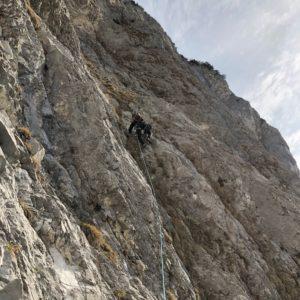 Zustiegslänge über den Diagonalweg am hechenberg