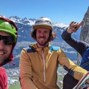 Niko Janovksy, Julian Resch und Armin Fuchs beim klettern am hecheberg in innsbruck